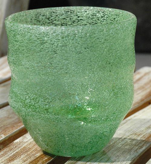 泡波巻宙吹ロックグラス緑 ¥3.000(税抜)
