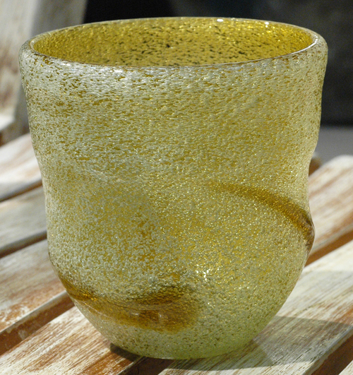 泡波巻宙吹ロックグラス茶 ¥3.000(税抜)