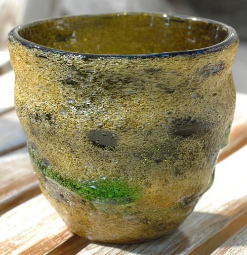 茶泡波巻宙吹ロックグラス苔 ¥3.800(税抜)