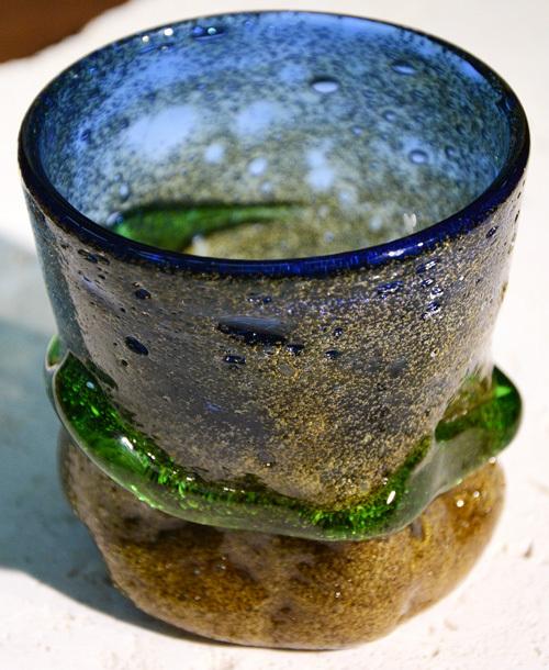 備長炭帯でこぼこグラス ¥5.000(税抜)